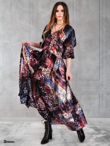 HANNAH long silk dress