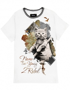 2REBEL kitty cat T-shirt (kids)